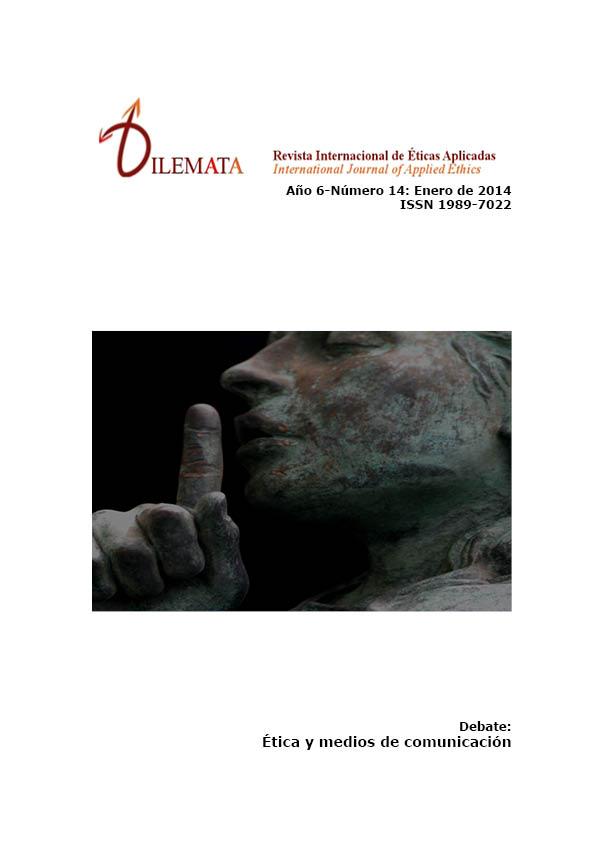Ver Núm. 14 (2014): Ética y medios de comunicación