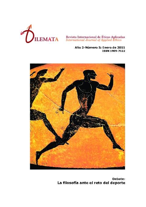 Ver Núm. 5 (2011): La filosofía ante el reto del deporte